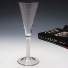 Very Tall Georgian Multi-Series Opaque Twist Glass c1760