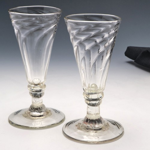 Two Georgian Somerset Ale Glasses c1780