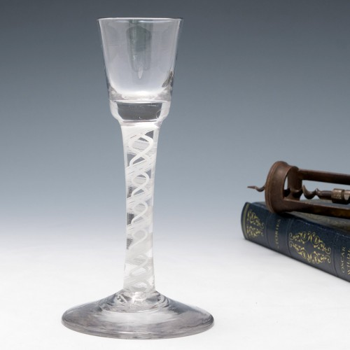 Georgian Opaque Twist Stem Cordial Glass c1760