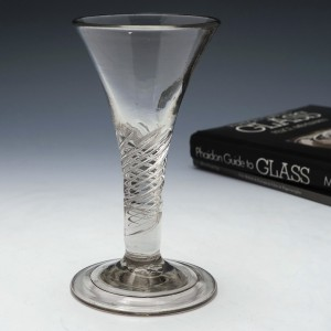 Georgian Air Twist Stem Short WineGlass c1750