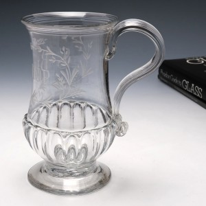 George III Gadrooned Baluster Engraved Ladies Tankard c1780