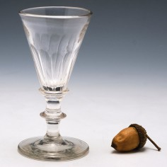 Petal Moulded Gin Glass c1800