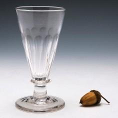 Large George III Petal Moulded Ale Glass c1800