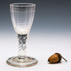 Rare Form Facet Cut Georgian Wine Glass c1810