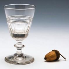 Victorian Prismatic Cut Gin Glass c1850