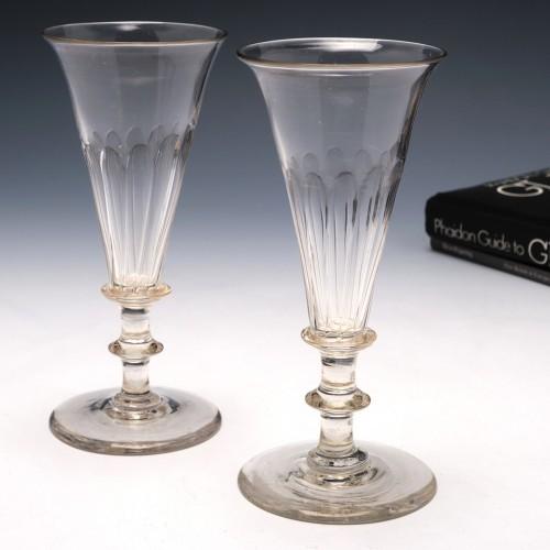 Pair Georgian Champagne Flutes c1820