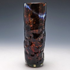 Mdina Dimpled Tortiseshell Glass Vase