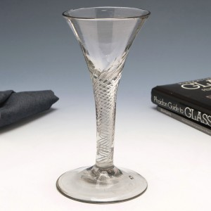 Air Twist Stem Wine Glass c1750