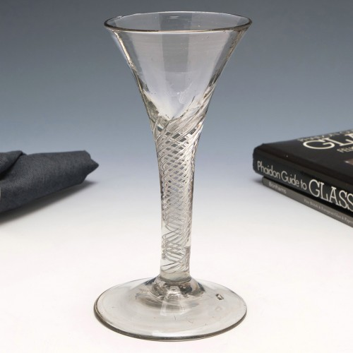 Air Twist Stem Wine Glass c1750