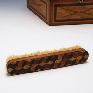 Tunbridge Ware Tumbling Dice Clothes Brush c1880