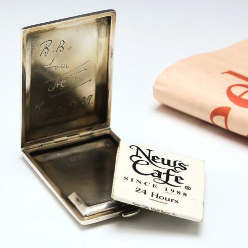 Silver Engine Turned Match Book Case Birmingham 1928