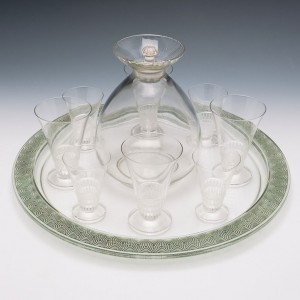 A Rêne Lalique Lotus Carafe and Stopper Designed 1924 Marcilhac 5031