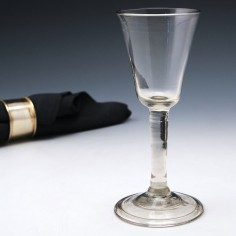 Tall Plain Stem Georgian Wine Glass c1750