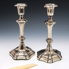 Pair of William IV Silver Candlesticks Sheffield 1835/6
