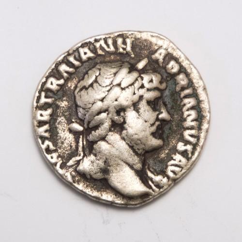 Roman Emperor Hadrian Silver Denarius Coin 117-138AD