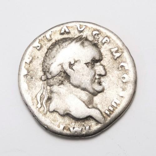 Roman Emperor Vespasian Silver Denarius Coin 72AD