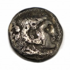 Ancient Greek Alexander The Great Silver Drachm Coin c330BC
