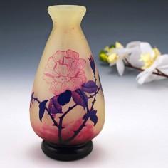 Andre Delatte Cameo Glass Vase c1925