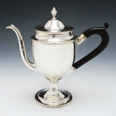 George III Silver Coffee Pot London 1803