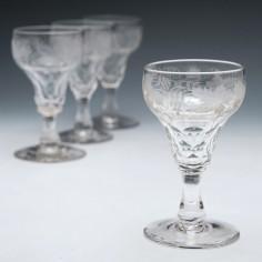 Set of Four John Walsh Port Wine Glasses
