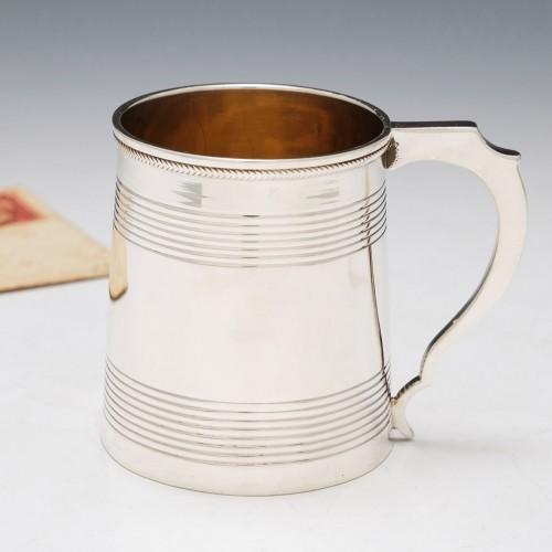 George III Silver Christening Tankard London 1818