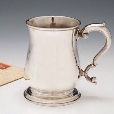 George III Sterling Silver Half Pint Tankard London 1763