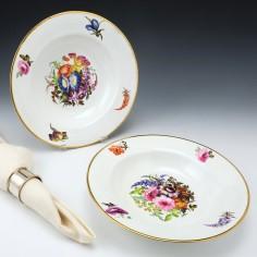 Pair of Derby Porcelain Soup Dishes c1815