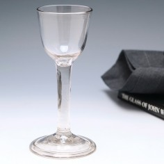 Plain Stem Wine Glass With Folded Foot c1750