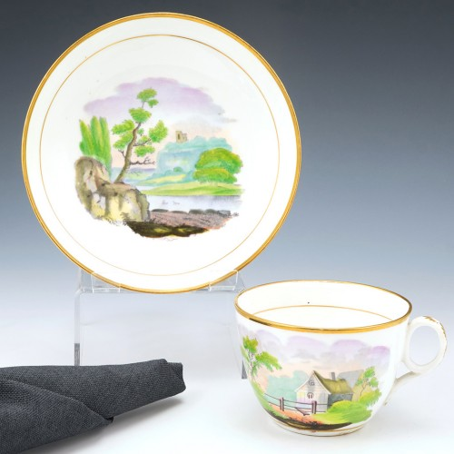 New Hall Tea Cup & Saucer c1815
