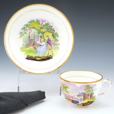 A Newhall Tea Cup and Saucer 1815-20
