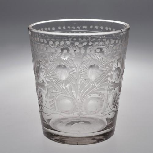 Bohemian Engraved Glass Tumbler c1780