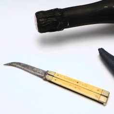 E Mercier & Co Folding Champagne Knife c1890