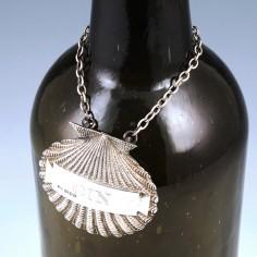 Silver Scallop Shell Gin Decanter Label London 1991