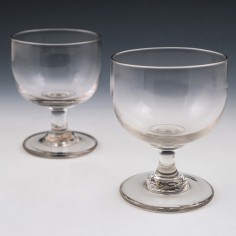 Pair Victorian English Glass Rummers c1860