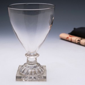 English Glass Rummer with Lemon Squeezer Foot c1800