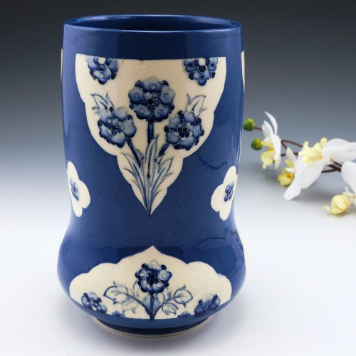 William Moorcroft Forget-Me-Not Vase