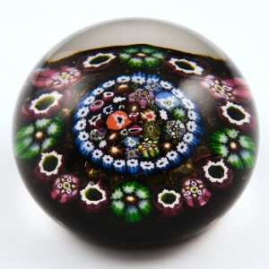 A Paul Ysart Concentric Millefiori Paperweight With Complex Central Cluster