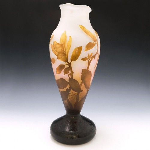 Very Large Daum Nancy Cameo Vase c1910