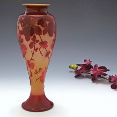 A Tall and Very Fine Galle Vase c1900