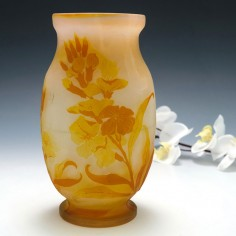 An Emile Galle Cameo  Glass Vase c1900