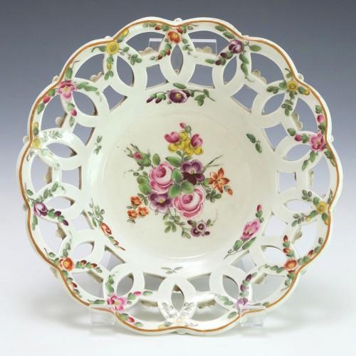 Worcester Porcelain Chestnut Basket c1770