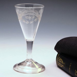 Gin Glass With Engraved Botanicals c1750