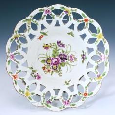 First Period Worcester Porcelain Basket c1770