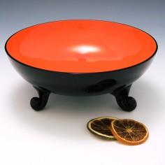 A Loetz Michael Powolny Tango Glass Bowl c1915