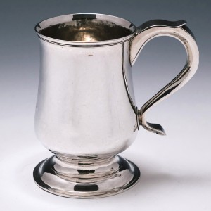 CHARITY Sold proceeds donated to League of Freinds Ilkeston Community Hospital  -  A Half Pint  Silver Tankard Newcastle c1810
