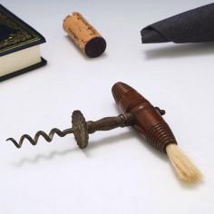 Hardwood and Brass Henshall Type Corkscrew c1860