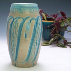 Royal Lancastrian Lapis Ware Vase By Gladys Rodgers and ET Radford