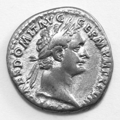 Roman Empire Silver Denarius Coin Emperor Domitian 89AD