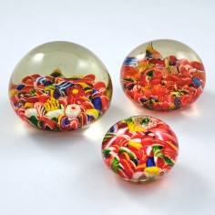 Three Chinese Scramble Paperweights c1930