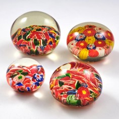 Four Chinese Scramble Paperweights c1930